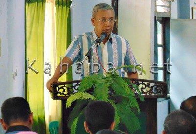 Wawali saat menyampaikan sambutan pada Mukerda I DPD LPM Kota Bima. Foto: Ady