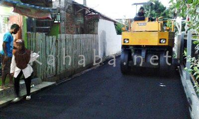 Aspal gang di Kelurahan Lewirato. Foto: Noval