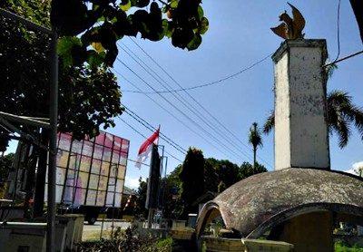 Kondisi Monumen bersejarah. Foto: Iyek