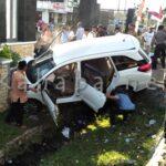 Kecelakaan Didepan Bandara, Pengendara Alami Luka Parah