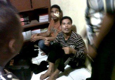 Pelaku Curanmor saat diamankan di Polres Bima Kota. Foto: Daffa Jihad Fisabilillah (Facebook)