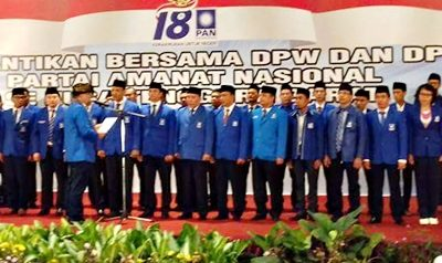 Proses pelantikan DPW dan DPD PAN Se-NTB. Foto: Feri Sofyan (Facebook)