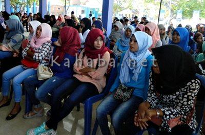 Suasana Penerimaan Mahasiswa Baru STIE Bima. Foto: Eric