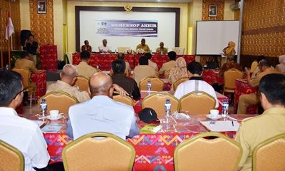 Workshop Akhir Integrated Total-Sanitation Project East Sumbawa di Muthmainnah. Foto: Hum