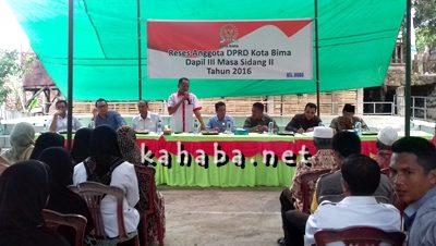 DPRD Kota Bima Dapil III saat Reses di Kelurahan Dodu. Foto: Eric
