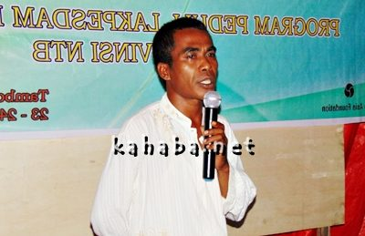 Kades Oi Bura Kecamatan Tambora, Wahyudin. Foto: Ady