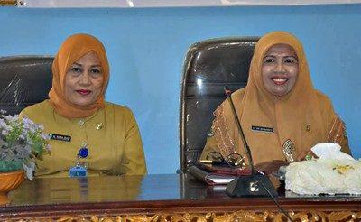 Kepala Arpus Kota Bima dan Kepala Arpus Kabupaten Bima. Foto: Hum