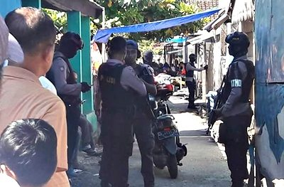 Proses penangkapan bandar narkoba di Tanjung. Foto: Ikbal Tanjung (Facebook)