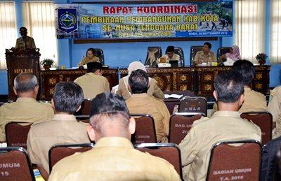 Rakor Pembinaan Pembangunan Kabupaten dan Kota. Foto: Hum