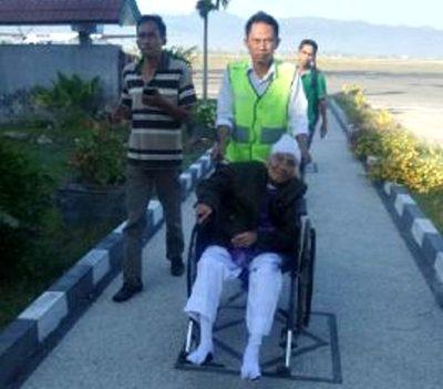 Salah satu CJH saat kembali ke Bima. Foto: Kemenag