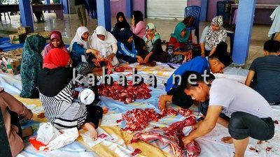 Suasana Kurban di STIE Bima. Foto: Ady