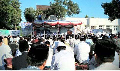 Suasana Sholat Idul Adha di kantor Pemerintah Kota Bima. Foto: Ady