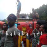 Truk Muat Sembako Terbalik di Jalan Ina Hami