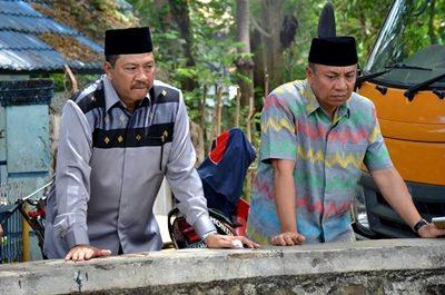 Walikota Bima dan Wakil Walikota Bima saat tinjau DAM Raba Salo. Foto: Hum