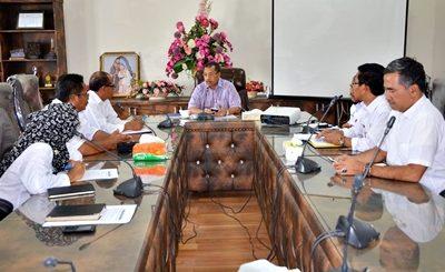 Walikota Bima saat gelar Rakor. Foto: Hum