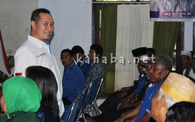 Anggota DPR RI H. Muhammad Syafrudin saat acara Muscab PAN Kota Bima. Foto: Bin