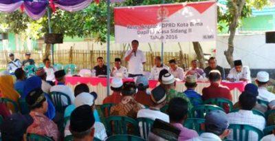 Anggota DPRD Kota Bima saat reses di Kelurahan Rontu dan Raba. Foto: Ady