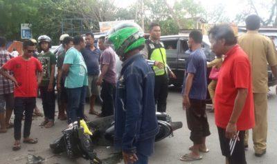 Kecelakaan di cabang Talabiu. Foto: Deno