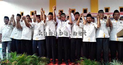 Jajaran pengurus DPD PKS Kota Bima berpose usai pelantikan. Foto: Eric