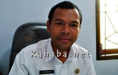 Kasubag Perlengkapan Bagian Umum Setda Kabupaten Bima, Firman Ayatullah. Foto: Noval