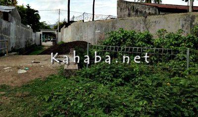 Lokasi tempat dibangunnya tempah sampah di Kuburan Tolobali Kelurahan Sarae. Foto: Eric