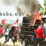 Mobil Massa Aksi GNP dan Oi Katupa Terbakar