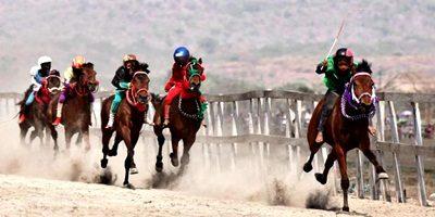 Pacuan Kuda Tradisional. Foto Travel - Kompas.com
