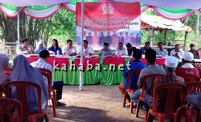 Reses DPRD Kota Bima Dapil II Kelurahan Sambinae. Foto: Eric