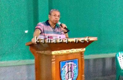 Wakil Walikota Bima saat menyampaikan sambutan pada Kejurda Bulutangkis Tingkat Provinsi NTB. Foto: Eric