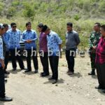 Bagian APU Selesaikan Pal Batas Kota dan Kabupaten Bima