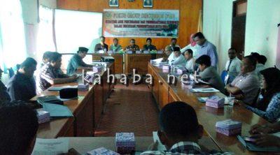 FGD membahas pencegahan korupsi yang digelar STISIP Mbojo-Bima. Foto: Deno