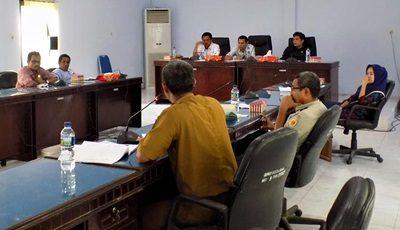 Hearing Dewan dan SKPD terkait Soal Timbunan Amahami. Foto: Hum Setwan Kota Bima