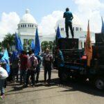 Mahasiswa STISIP Demo Tolak Masjid Terapung
