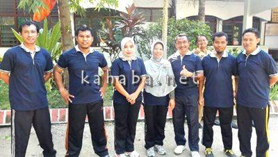 Jajaran pegawai Dinas PU Kabupaten Bima saat mengikuti lomba. Foto: Bin