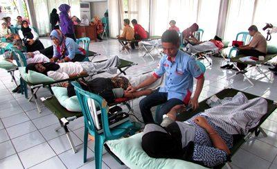 Kegiatan Donor Darah di Pemkab Bima. Foto: Hum