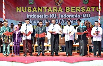 Kegiatan Orasi Kebangsaan Nusantara Bersatu. Foto: Hum