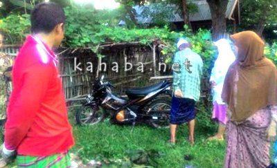 Motor hasil curian ada bercak darah ditemukan di Panggi. Foto: Ompu