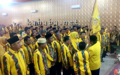 Pelantikan DPD II Partai Golkar Kabupaten Bima. Foto: Bin