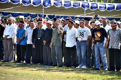 Peserta Kegiatan Orasi Kebangsaan Nusantara Bersatu. Foto: Hum