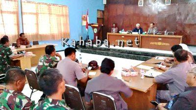 Rakor Kamtibmas terkait aksi demo besok di Aula Pemkab Bima. Foto: Ady
