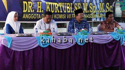 Reses Anggota Komisi VII DPR RI H. Kurtubi didampingi Anggota DPRD Kota Bima Muthmainnah. Foto: Bin