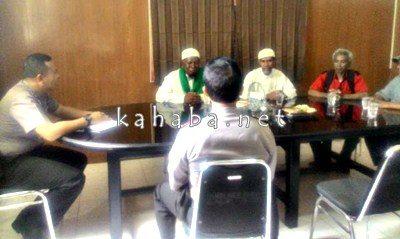 Sejumlah Ormas Islam saat menemui Kapolres Bima Kota. Foto: Ompu