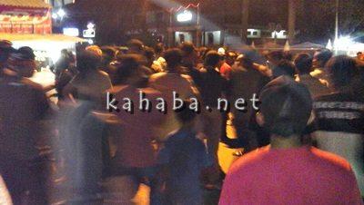 Suasana tegang di Lapangan Serasuba Kota Bima. Foto: Ompu