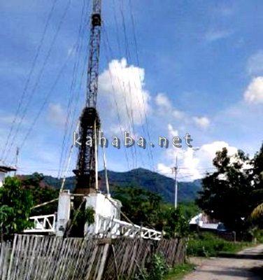 Tower di Lingkungan BTN Gindi Asri Kelurahan Jatiwangi. Foto: Deno