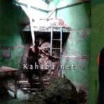 Akibat Gempa, Rumah Warga Kodo Ditimpa Batu Besar