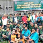 Situs Sejarah Terbengkalai, Warga Pane Peduli Gotong Royong Bersama TNI dan Polri