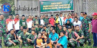 Foto bersama warga Pane, TNI, Polri dan usai Gotong-royong. Foto: Eric