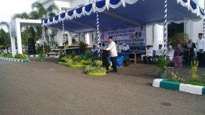 Walikota Bima saat menyampaikan sambutan acara Dzikir bersama dan Istighosah. Foto: Bin