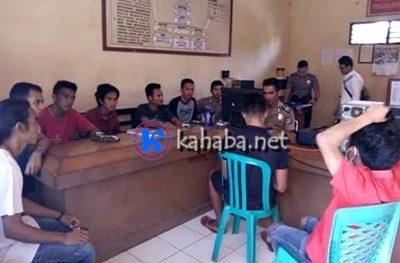 LMND saat menyampaikan laporan ke Polisi. Foto: Deno