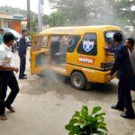 Angkot Nyaris Terbakar di RSUD, Warga Panik